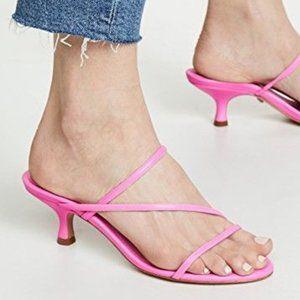 New SCHUTZ Pink Evenise Kitten Heel Sandals - 10